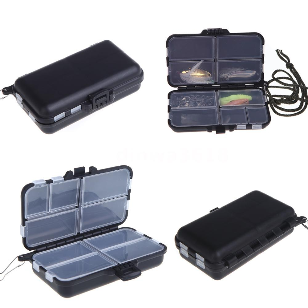 Fishing Tackle Box Spinner Bait Minnow Popper 9 Compartments Fishing Accessor F4