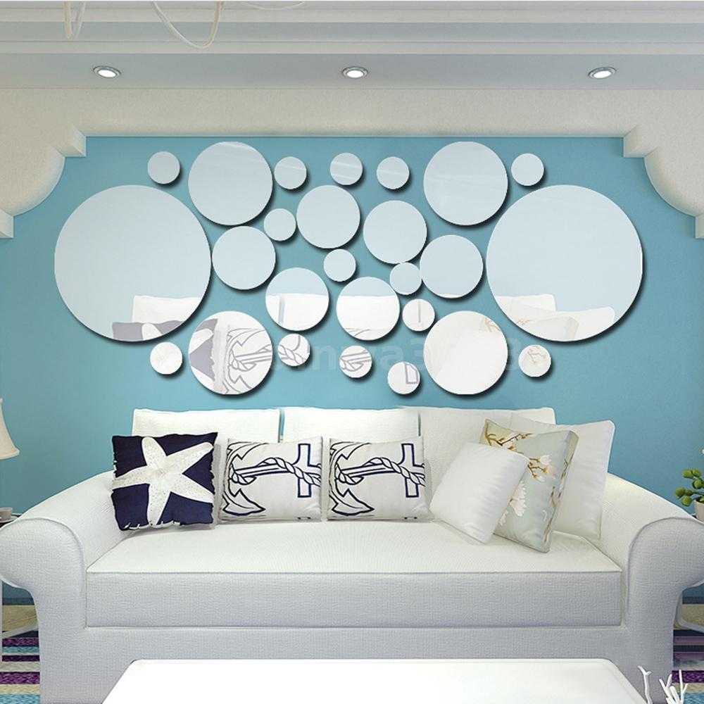 26pcs 3d Mirror Wall Stickers Dot Decal Art Mural Removable Home Diy Decor Usa 800018709618 Ebay